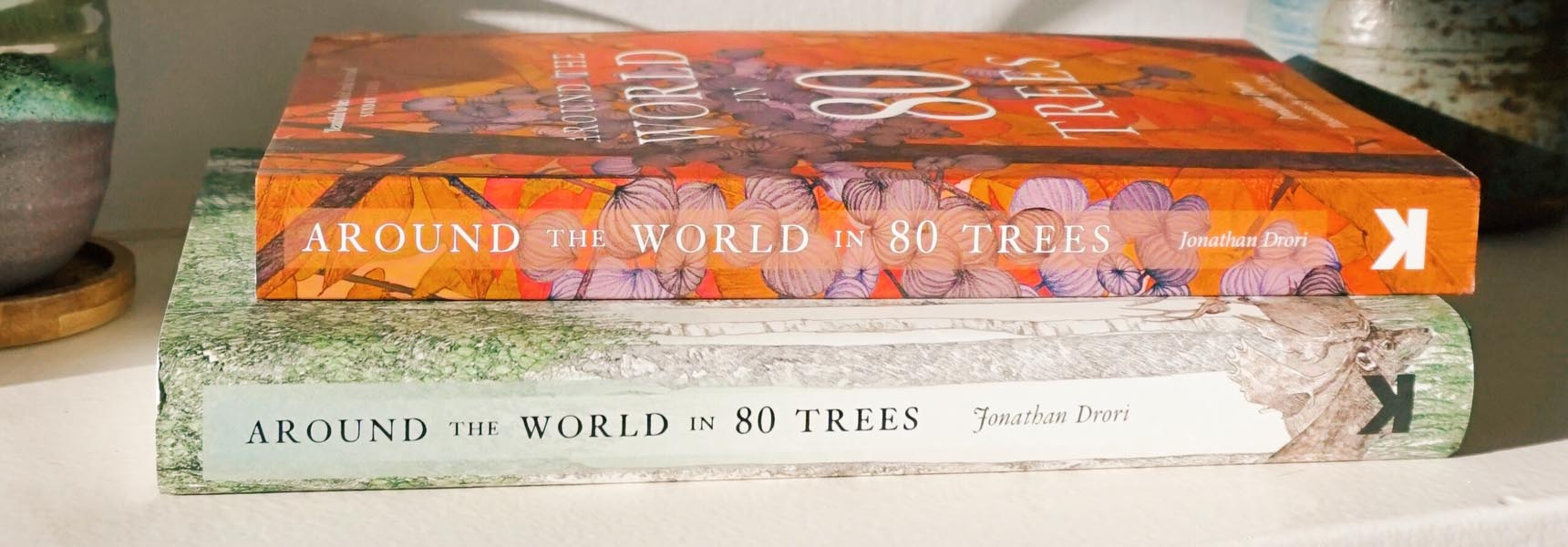 Around the World in 80 Trees in both hardback and paperback